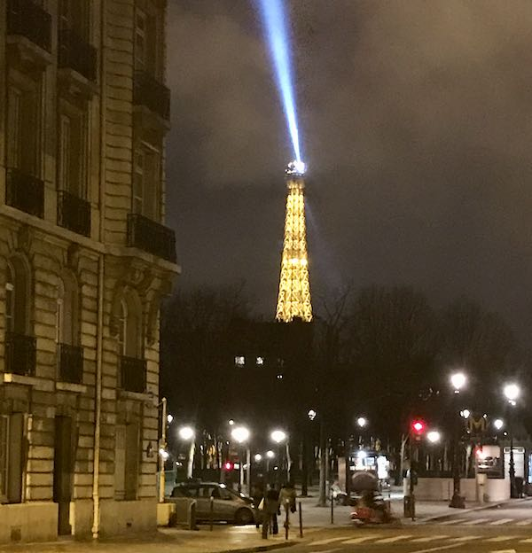 Eiffel Tower lit up Paris