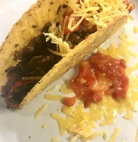 Mushroom with fajita spice