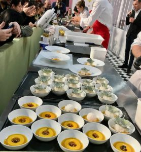 Mango desserts being created