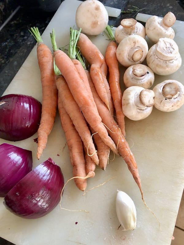 Vegetables for the stew