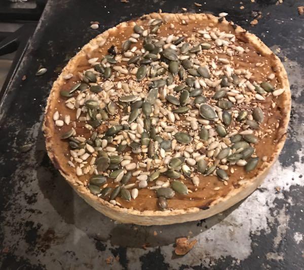 Nut butter pastry tart