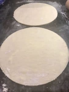 Rolled pastry for Galette